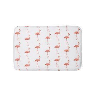 pink flamingo simple pattern bathroom mat - Pink Flamingo Bath Decor