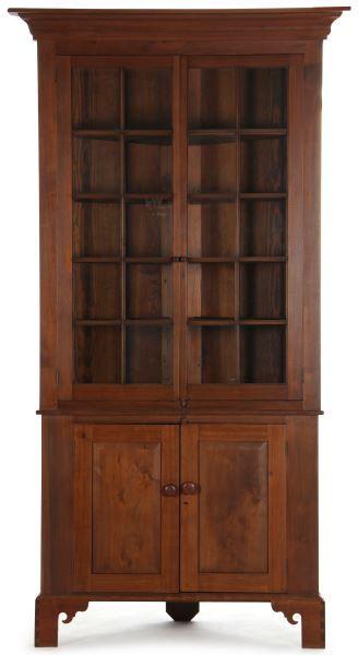 Ordinaire Lot # : 546   North Carolina Corner Cupboard Colonial Furniture, Primitive  Furniture, Rustic