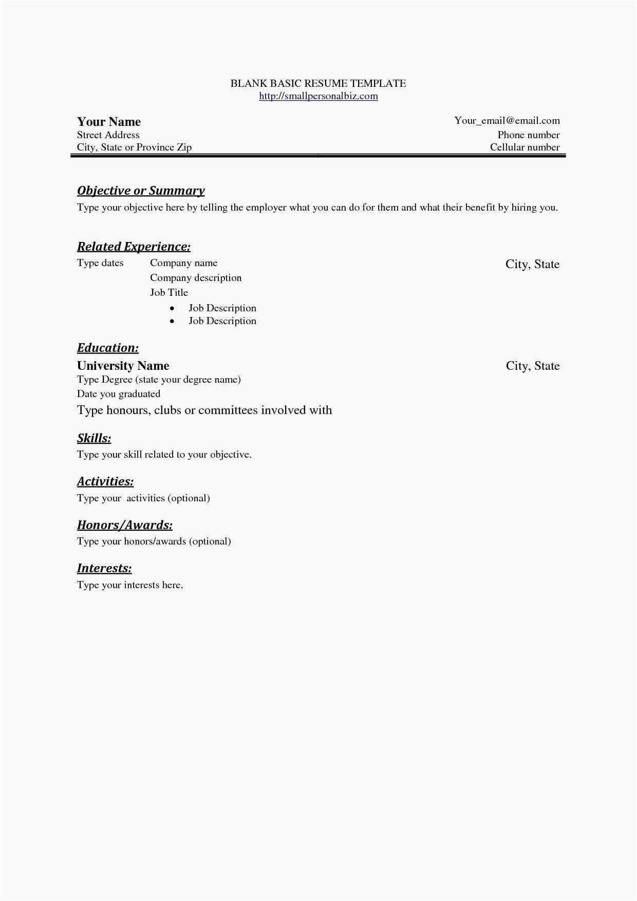 75 Awesome Gallery Of Resume Samples For Horticulture Jobs Basic Resume Simple Resume Examples Basic Resume Examples