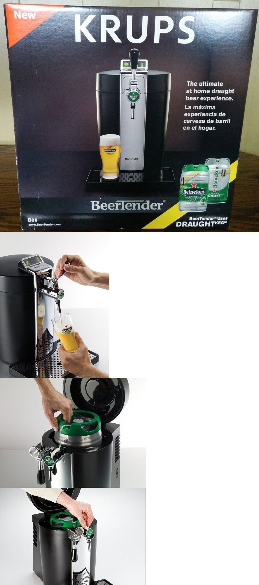 Beer tap systems for home - Home Pubs And Bars 115713 Krups B90 Beertender Home Beer Tap System Heineken W 10