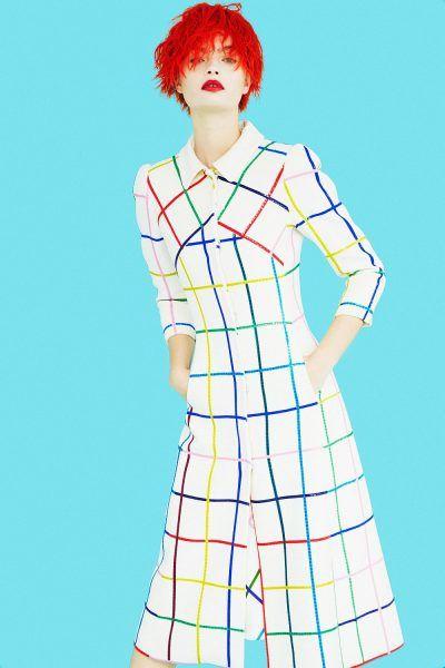 Платье в клетку Mary Katrantzou Resort 2017