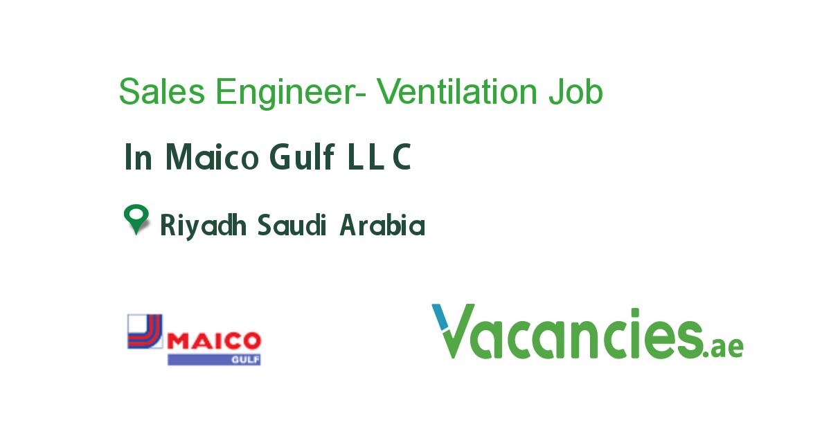 Sales Engineer Ventilation Job Engineering Ventilation