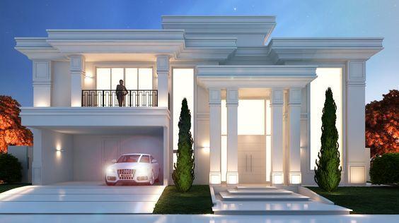 Dharma Digital Design 3d Maquete Eletronica Fachadas De Casas Casas De Luxo Faxadas De Casas