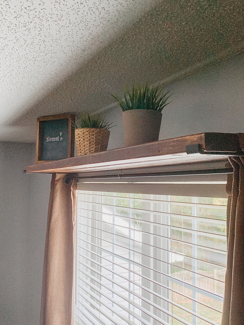 diy window shelf curtain rod combo