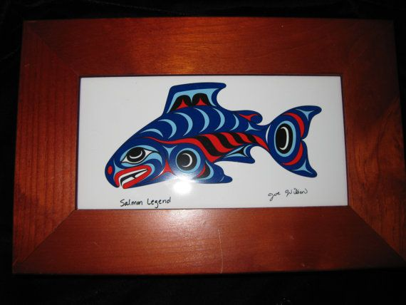 Native American Salmon Box with Joe Wilson Tile