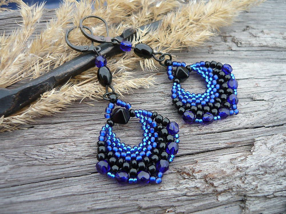 Earrings Blue Darkness