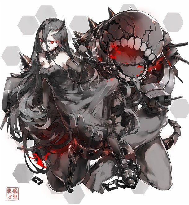 anime black hair demon girl