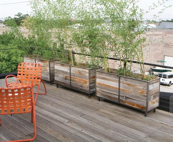 reclaimed wood planter box - Reclaimed Wood Planter Box Storefront Planters Pinterest