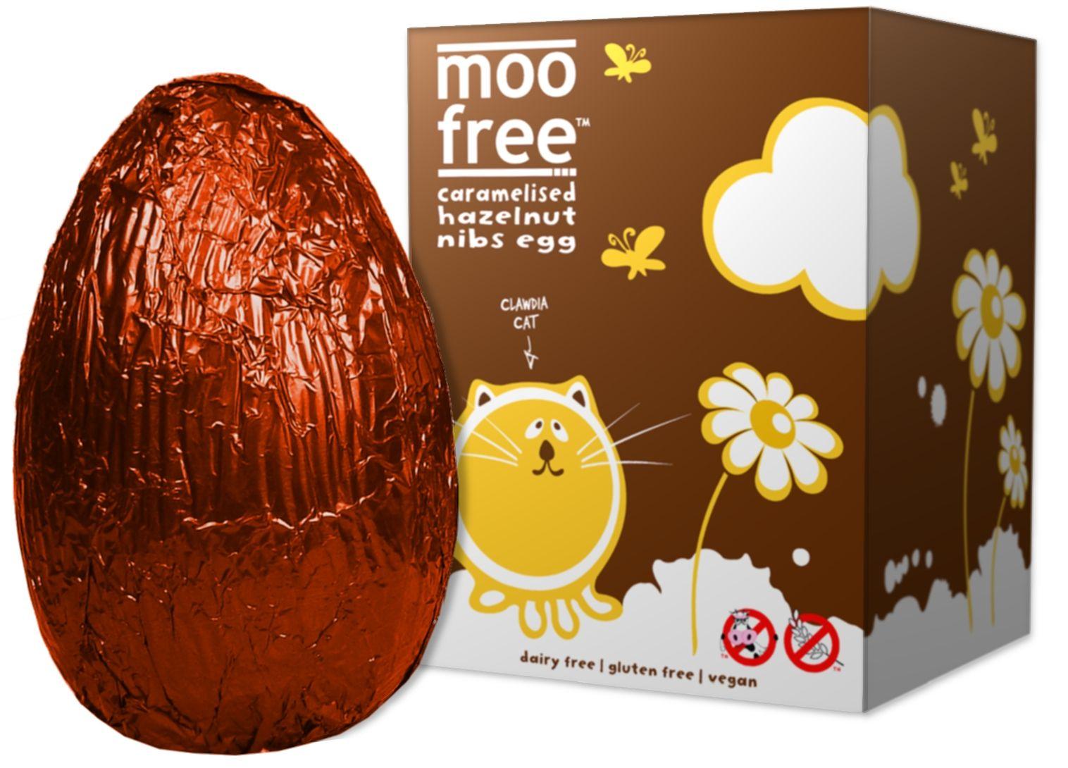 Organic Caramelised Hazelnut Nibs Easter Egg gluten free