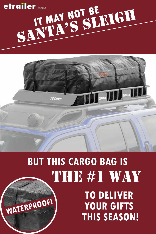 Curt Cargo Bag for Roof Basket Waterproof 21 Cu Ft