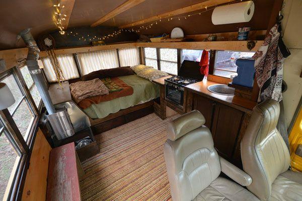 95 Chevy Bus Conversion The Woody Bus Bus Camper Bus Interior