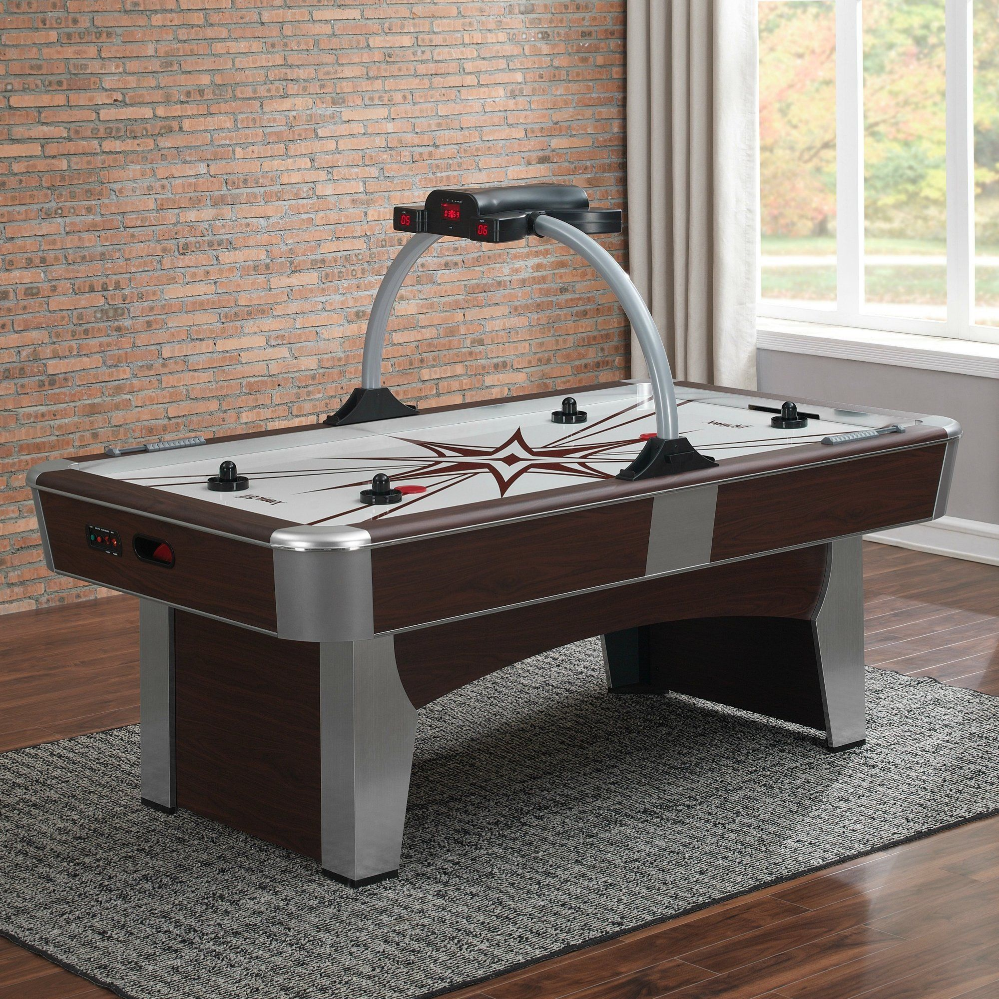 7' Two Player Air Hockey Table with Digital Scoreboard in
