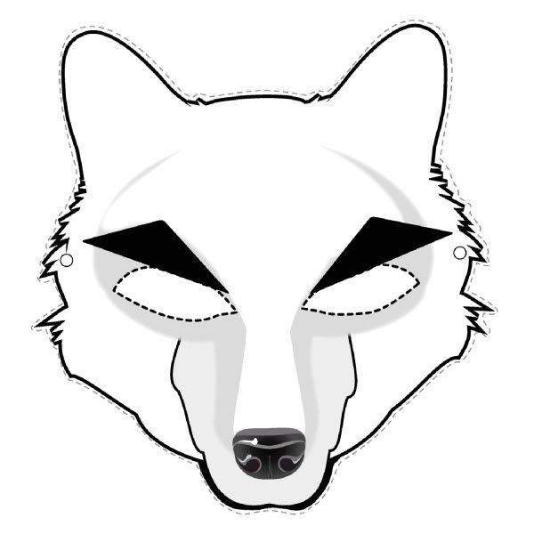 Pdf masque de loup a colorier ducation - Masque de renard a imprimer ...