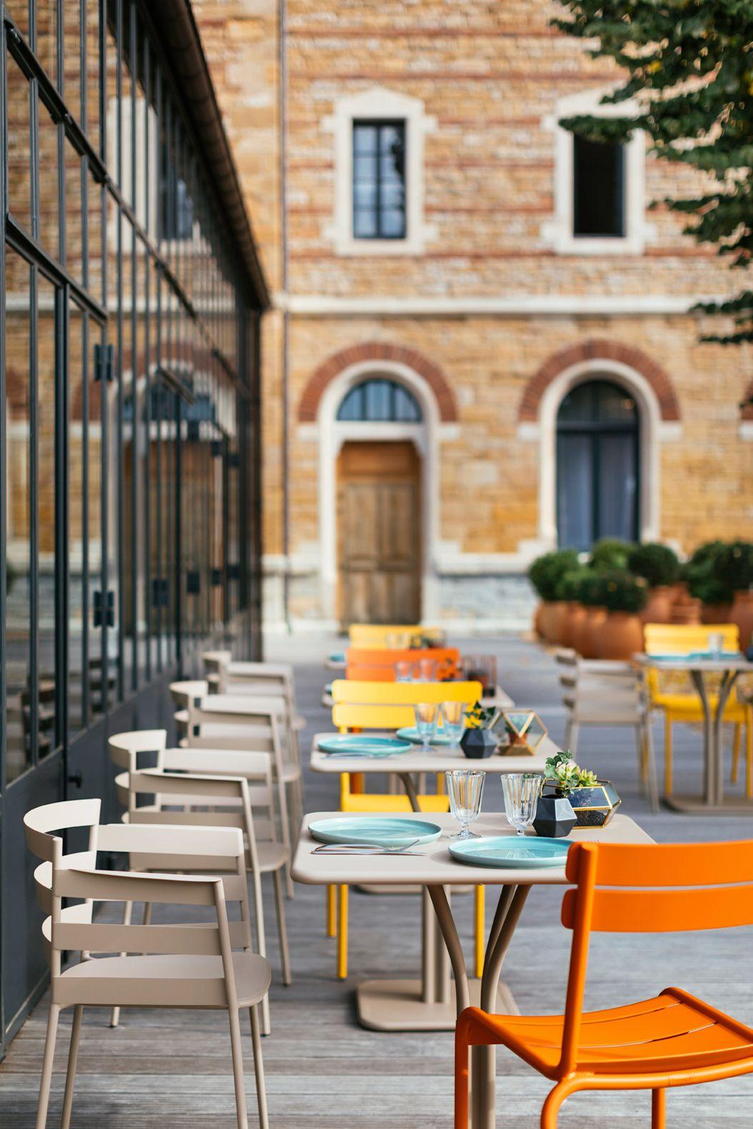 Terrasse Mobilier Hotel Restaurant Chaise Rythmic
