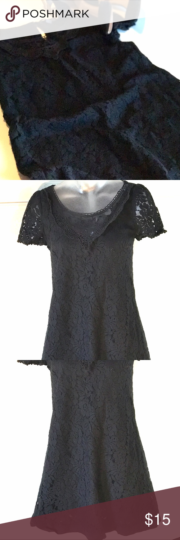 perfect for date night black lace dress