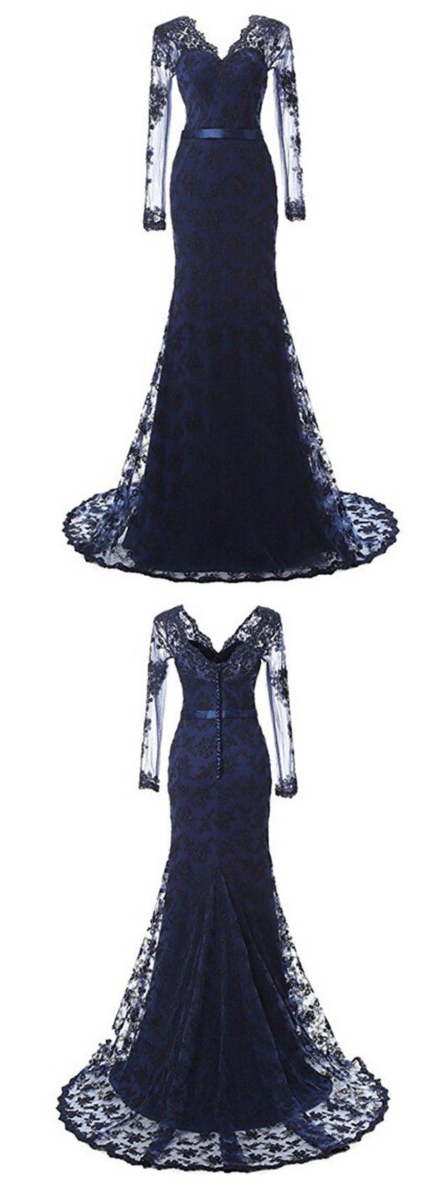 Womenus elegant mermaid prom dress lace and tulle pinterest