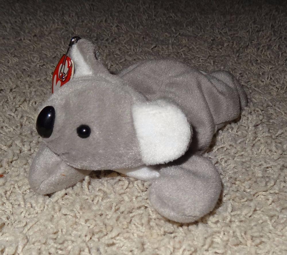 TY Beanie Baby Mel Koala Bear Gray PVC Pellets Rare 1996 Tags Retired - TH   f48fd2a61023