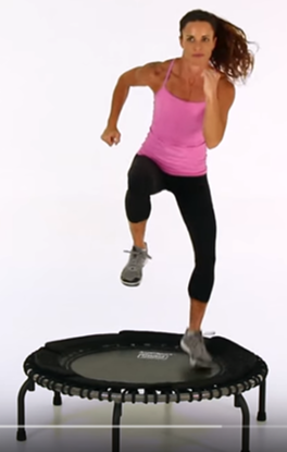 Cardio Trampoline Super Set Double Hop On 1 Foot For 30 Seconds Then Slow March For 30 Seconds Trampoline Workout Trampoline Cardio Super Sets