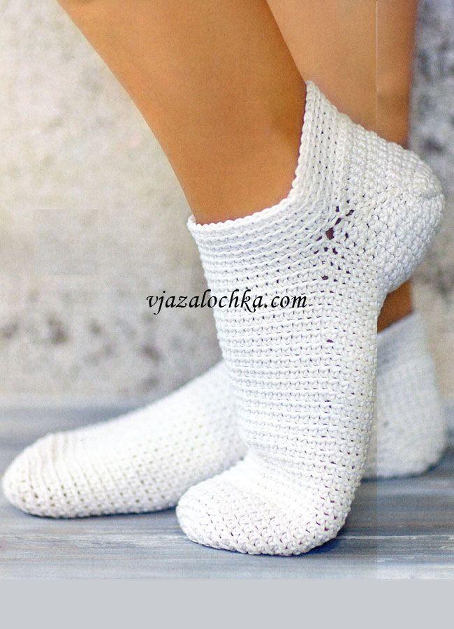 Short socks, crochet   Crochet & knit   Pinterest   Tejido ...