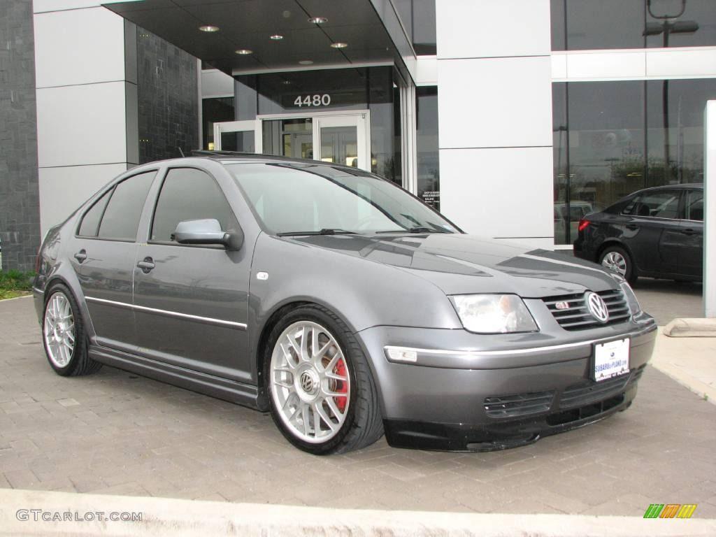 2004 volkswagen jetta gls 1 8t sedan platinum grey metallic color silver wheels wheels. Black Bedroom Furniture Sets. Home Design Ideas