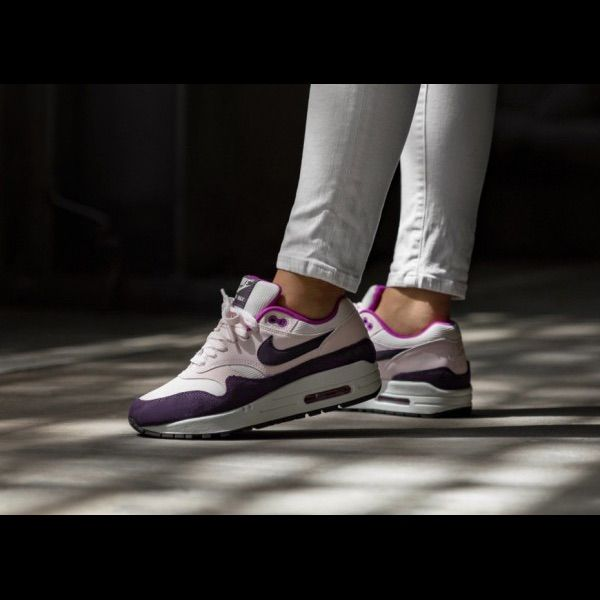 New In Box No Top Nike Wmns Air Max 1 Sneakerssize: 8 Color: Light Soft Pink Grand Purple Hyper Violet Summit Whiteair Max 1 Lt Silhouettemesh, Leather, And Suede Upperpadded Collarnike Air Max Branding On Tongue And Heel Tableather Swoosh On Side Panelflat Cotton Lacesvisible Sole Windowheel Air Max Unitrubber Outsole