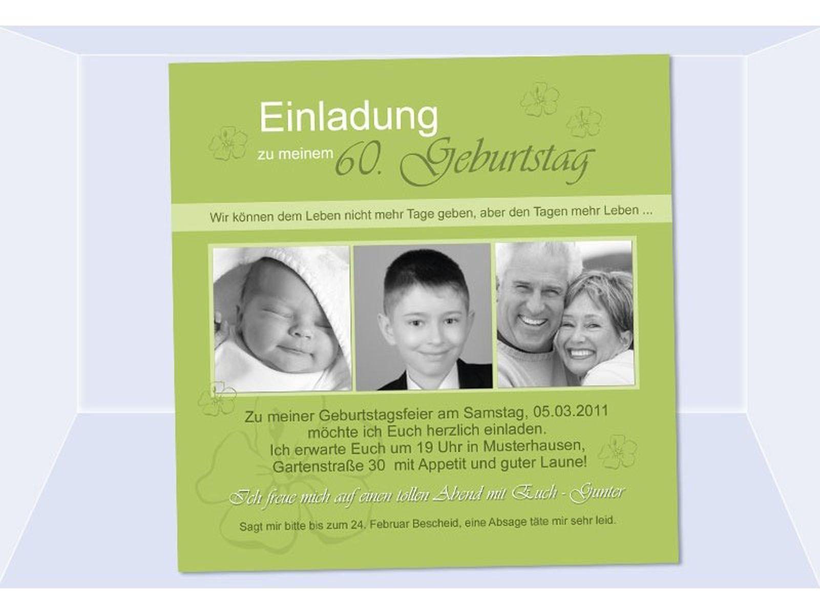 Einladungskarten Geburtstag Einladungskarten 60 Geburtstag