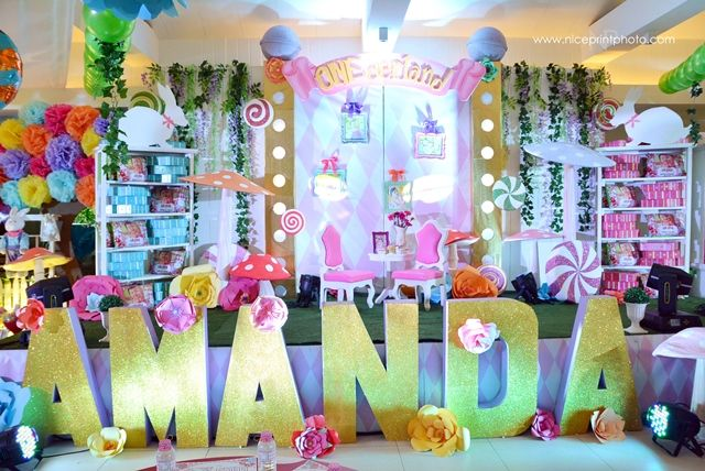 Amanda S Alice In Candy Wonderland Themed Party 1st Birthday
