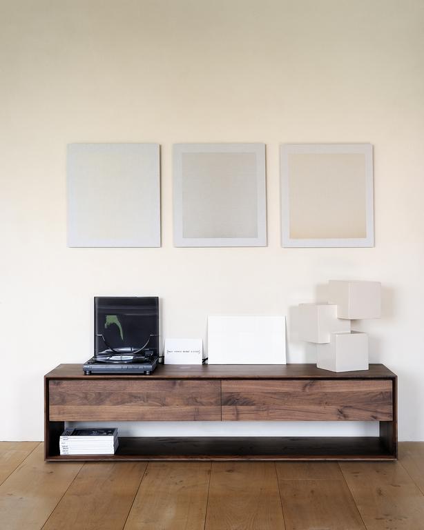 Tv Hall Cabinet Living Room Furniture Designs Wooden Tv: Ethnicraft Walnut Nordic TV Cupboard