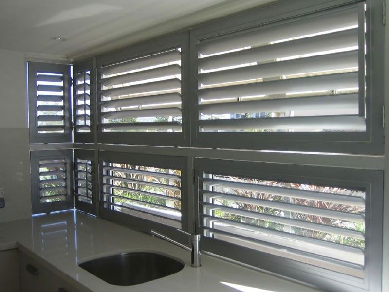 Image result for aluminum interior shutters photos