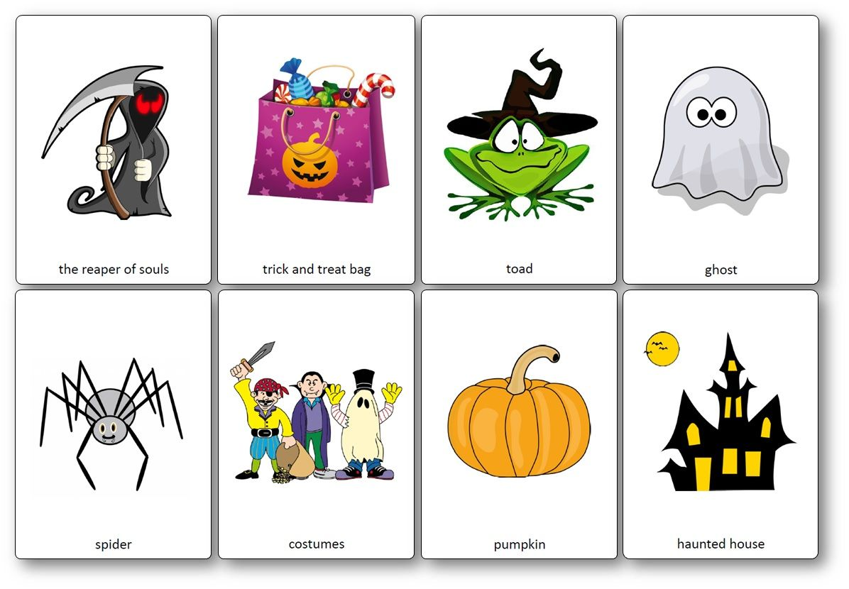 Halloween Flashcards Printable