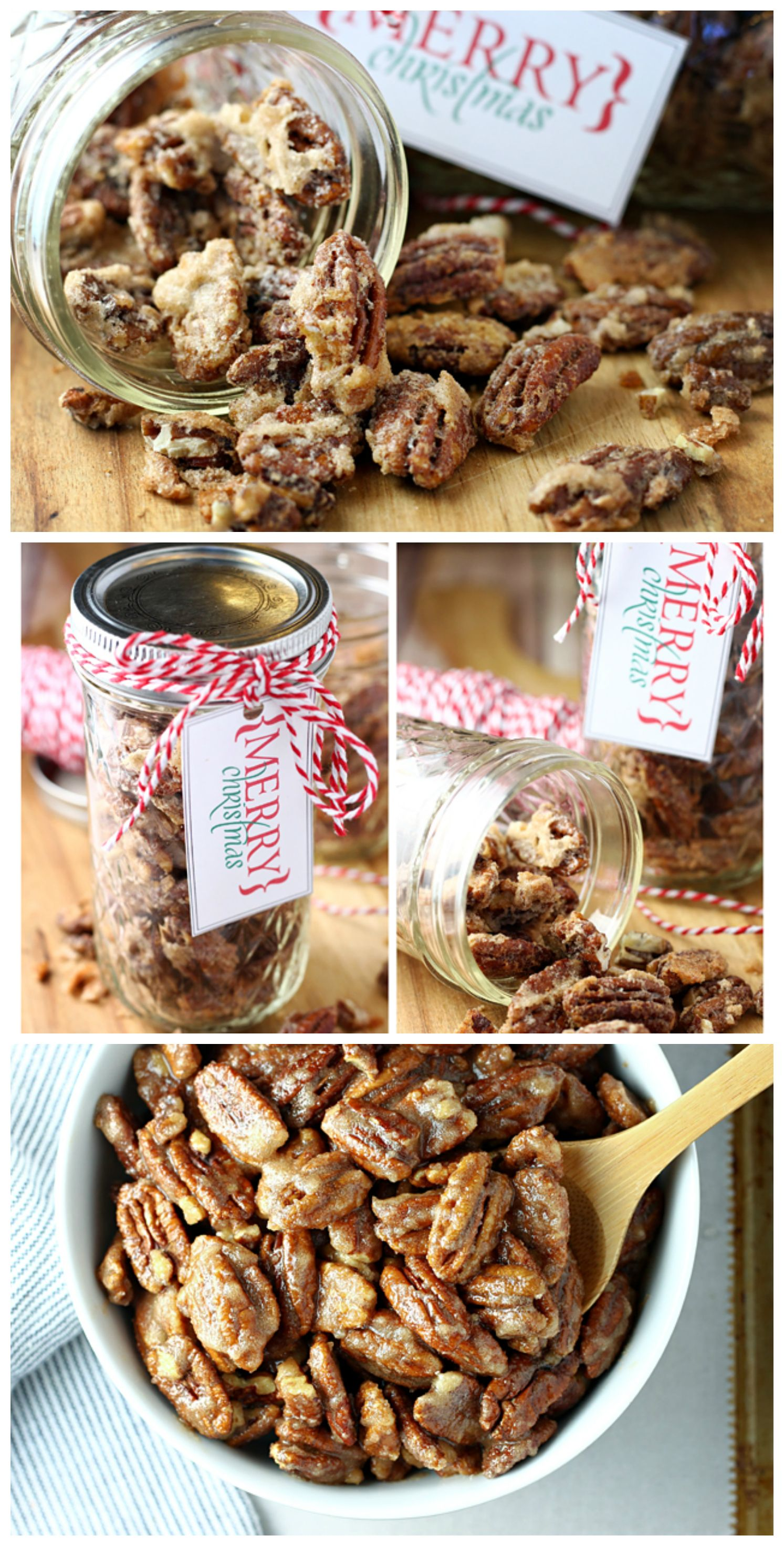 Quick And Easy Candied Pecans - Eighteen25 #homemadechristmasgifts