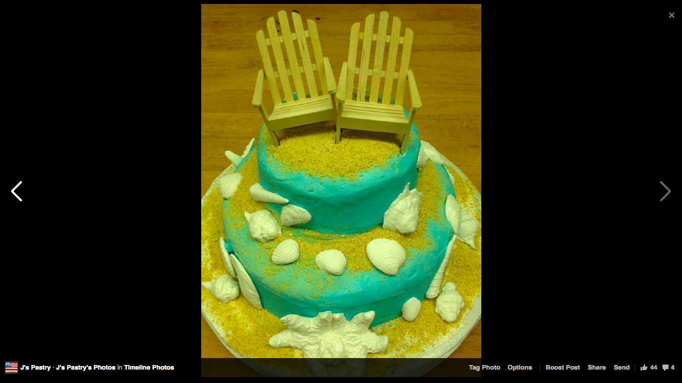 Beach Wedding Cake With Tropical Color By Js Pastry Shop In Pensacola