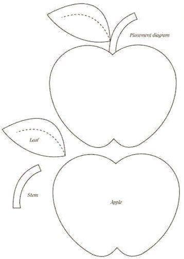 almohadas de frutas: molde para hacer manzanas | muñequitos ...