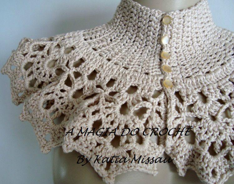 cuellos patrones diseños | crochet | Pinterest | Patrones, Libros ...
