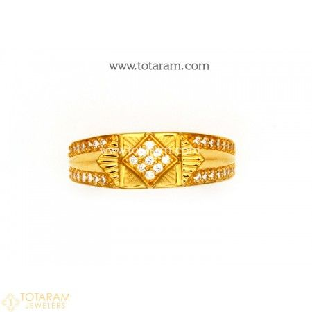 22K Gold Ring for Men With Cz 235 GR3746 Buy this Latest