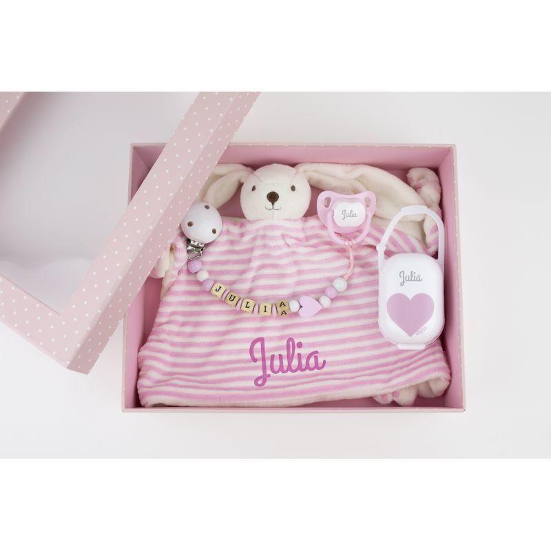 e57fef741 Original caja regalo para recien nacidos, personalizada con su nombre.