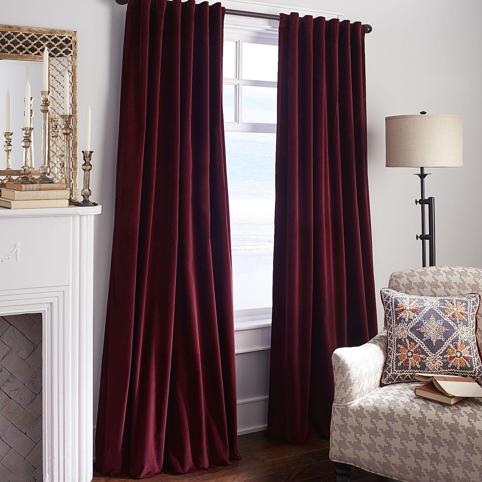 Sheridan Velvet Curtain Wine Red Curtains Living Room Velvet Curtains Curtains Living Room