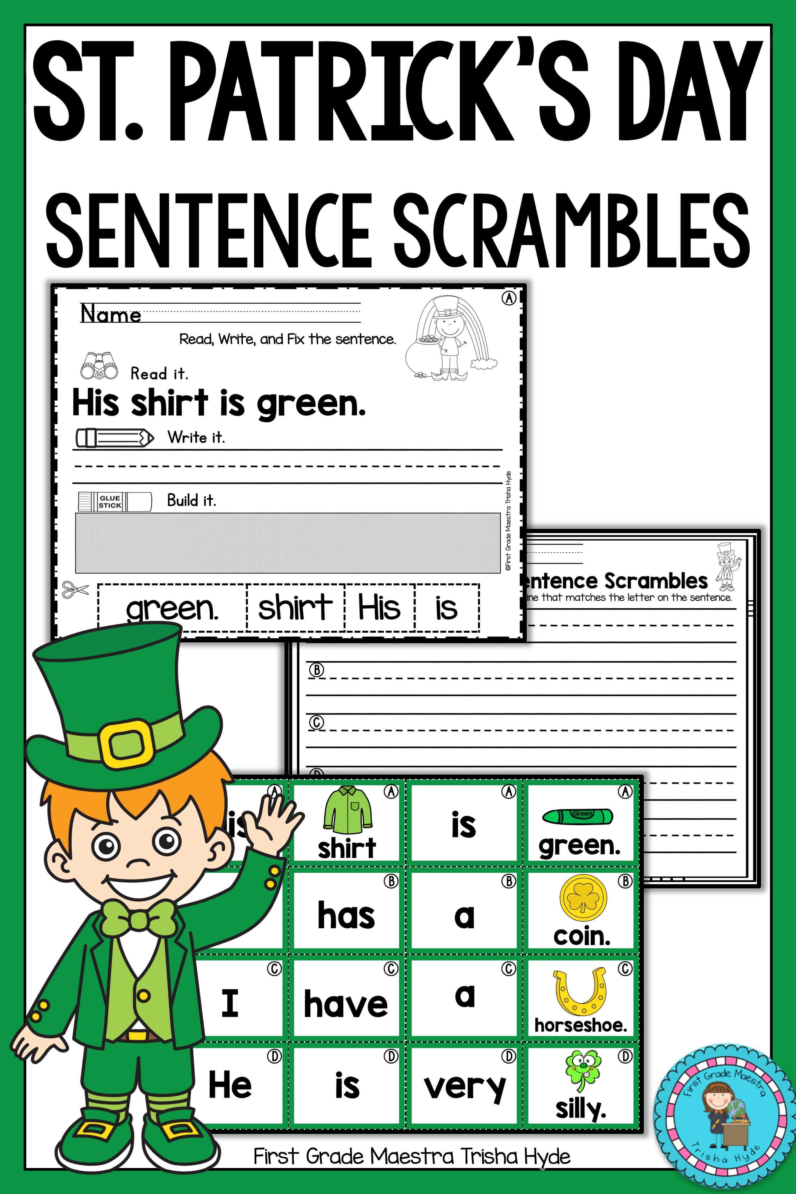 St Patrick S Sentence Scrambles