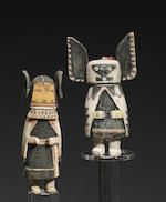 Bonhams : Two Hopi kachina dolls