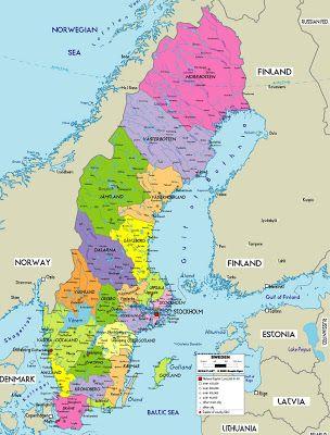 Karta Over Sverige Provinsen Bild Resa Med Barn Pinterest