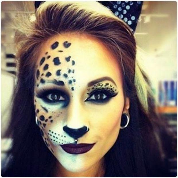 7 diy halloween make up ideas - Halloween Makeup For Cat Face