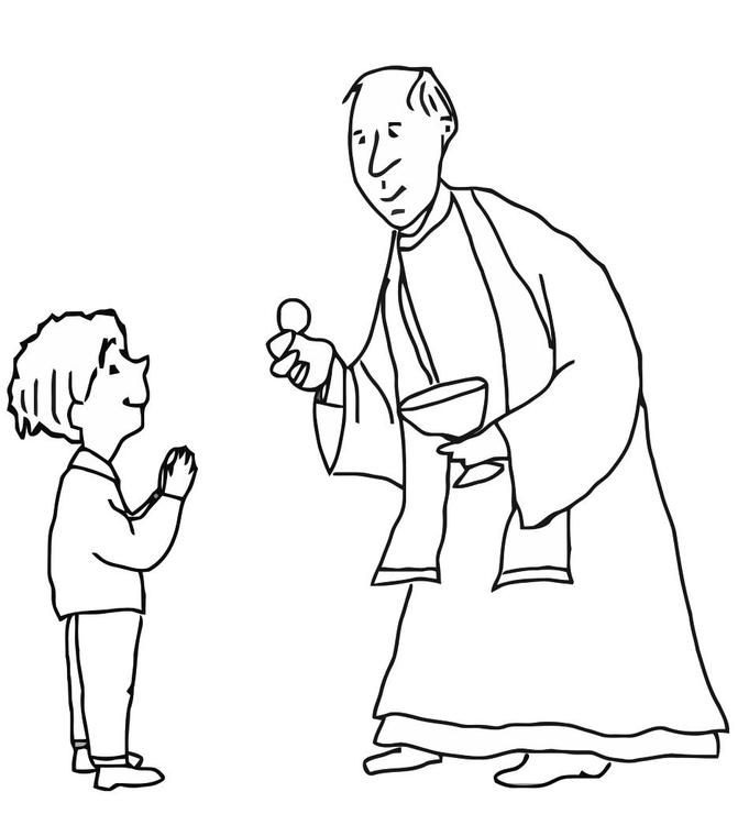 Coloring Page First Communion Coloring Picture First Communion