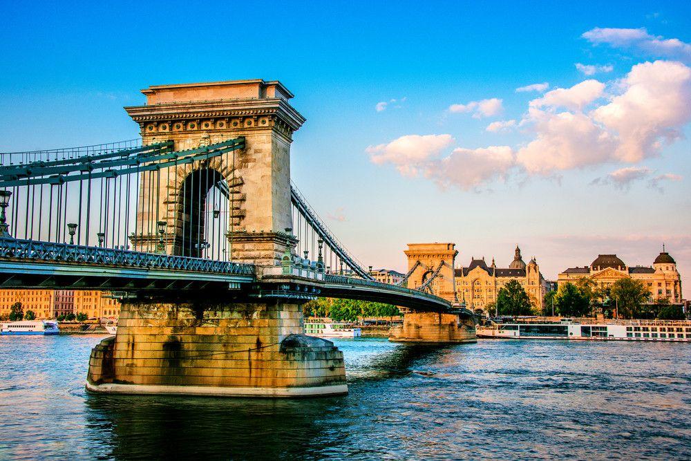 Puente De Las Cadenas Széchenyi Budapest Hungría Puentes Canales De Amsterdam Puente Golden Gate