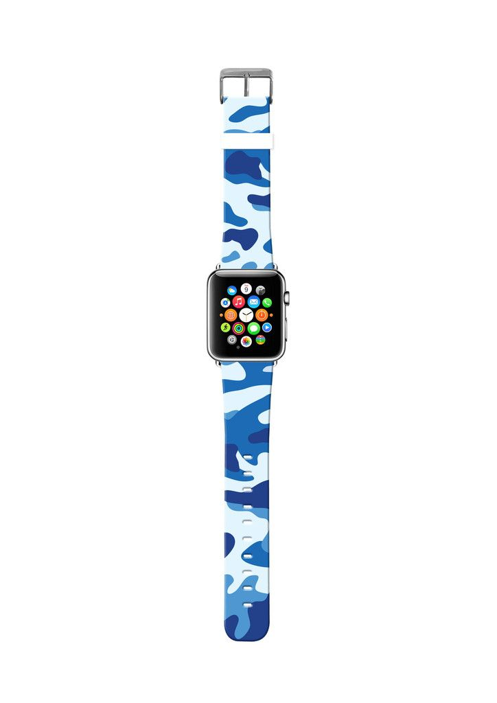 Camouflage Blue cr15 Apple watch, Apple watch bands