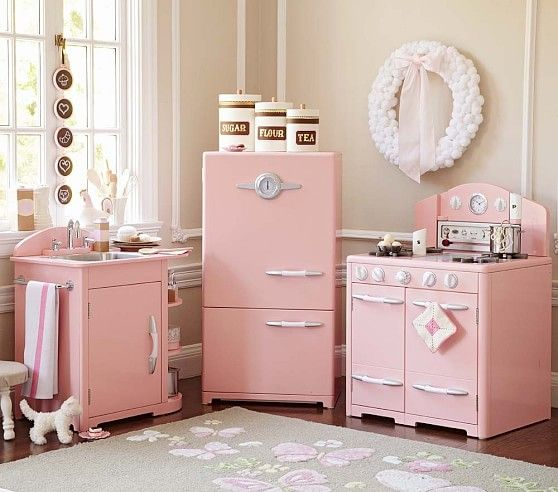 Pink Retro Kitchen Collection Pottery Barn Kids Why Must You Be So Amazing