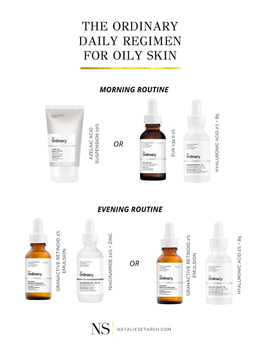 The Ordinary Skincare Routine For Oily Skin Natalie Setareh Skincare For Oily Skin The Ordinary Skincare Routine Skin Care Acne