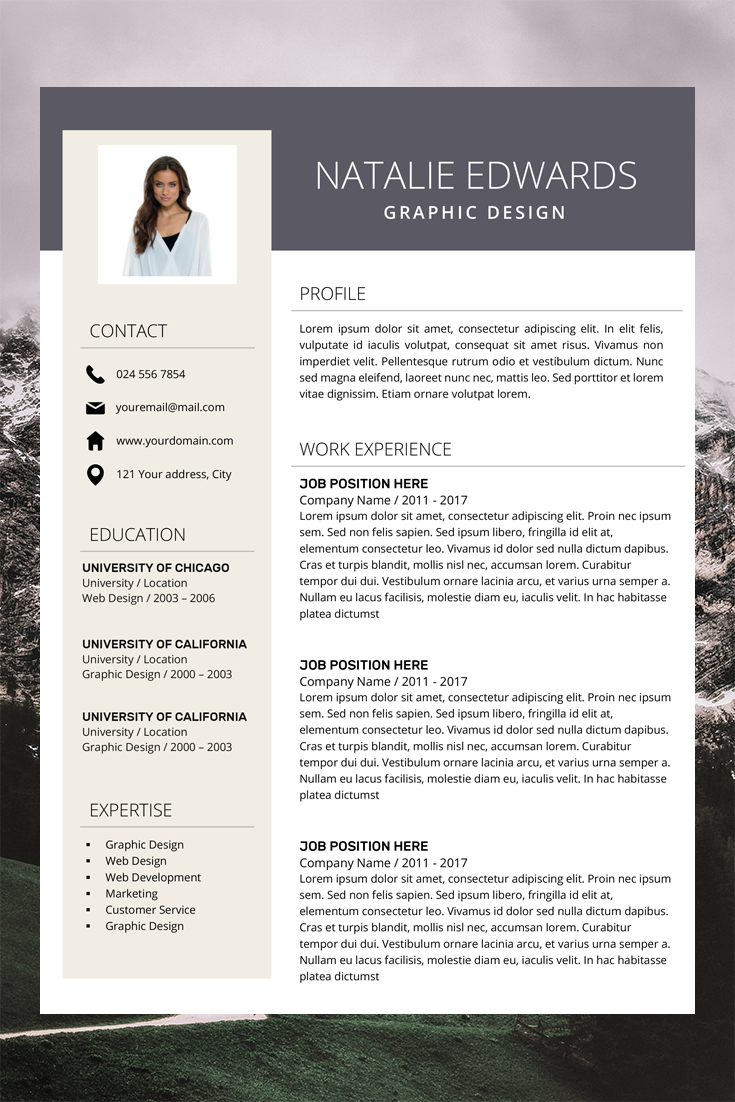 Creative Resume Template Cv Template For Ms Word And Pages Etsy Resume Template Professional Resume Template Creative Resume Templates