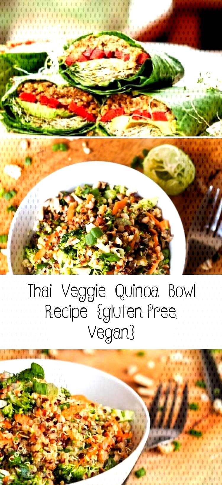 This Thai veggie quinoa bowl recipe is so delicious! Its the perfect one pot meal, because its fu