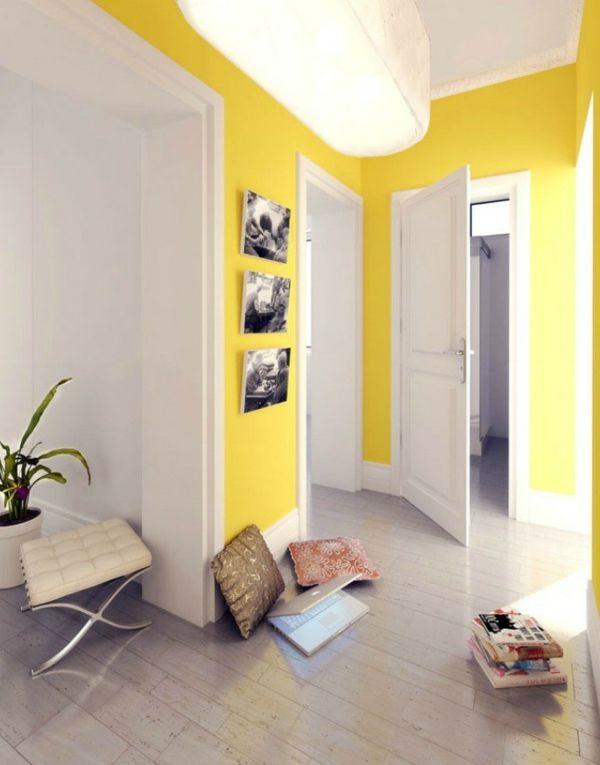 gelbe Wände im Flur FARB GESTALTUNG Pinterest Room and House - wohnzimmer gelb streichen