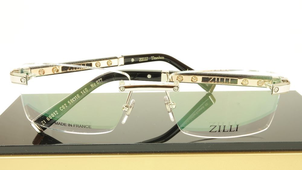 3f3014d6df4 ZILLI Eyeglasses Frame Acetate Leather Titanium France Hand Made ZI 60012  C02  ZILLI